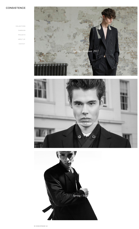 CONSISTENCE Contemporary Menswear London, UK